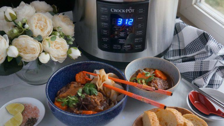 Jn Cooking Channel Bo Kho Ft Crock.Pot Express Crock - YouTube