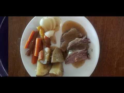 crockpot beef top round roast