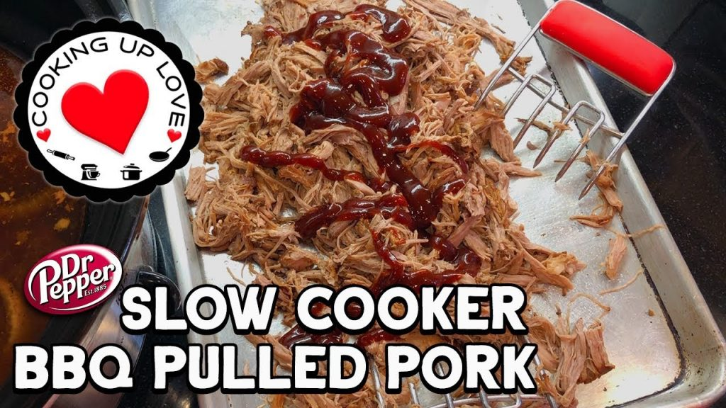 Dr Pepper Pulled Pork Slow Cooker Recipe | Potluck Recipe | Cooking Up Love
