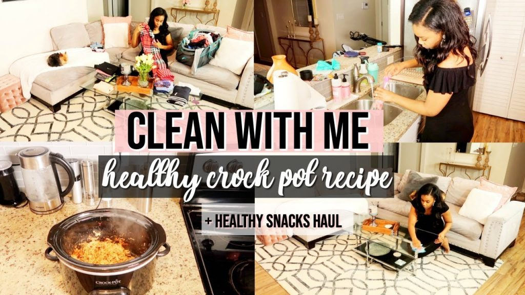 HEALTHY CROCK POT RECIPE, THRIVE HAUL, AND CLEAN WITH ME | LoveLexyNicole