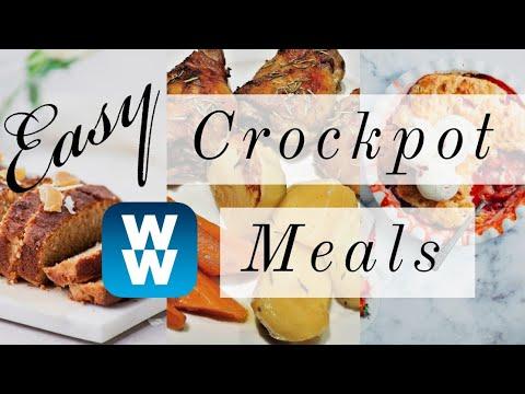 EASY MYWW CROCKPOT MEALS! | UPSIDE DOWN TACO PIE | MEATLOAF | GARLIC PARM CHICKEN | WEIGHT WATCHERS!