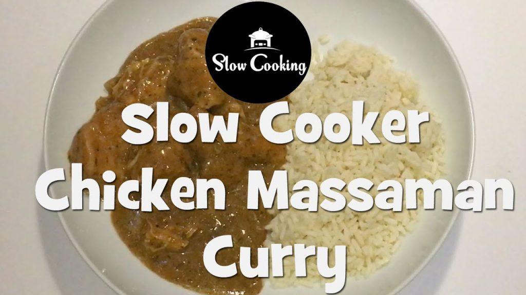 Slow Cooker Chicken Massaman Curry