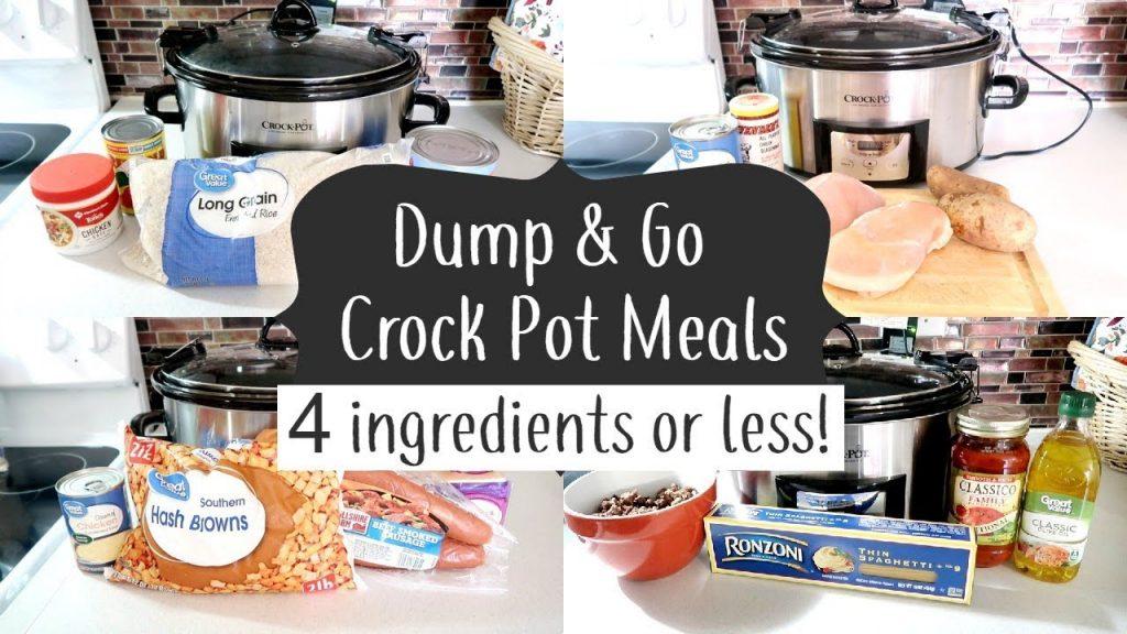 DUMP & GO CROCK POT MEALS | QUICK & EASY CROCK POT RECIPES