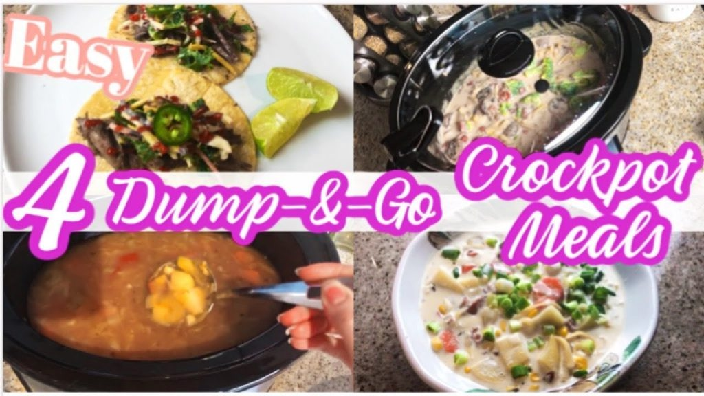 4 EASY DUMP & GO CROCK-POT MEALS | WHATS FOR DINNER 2020