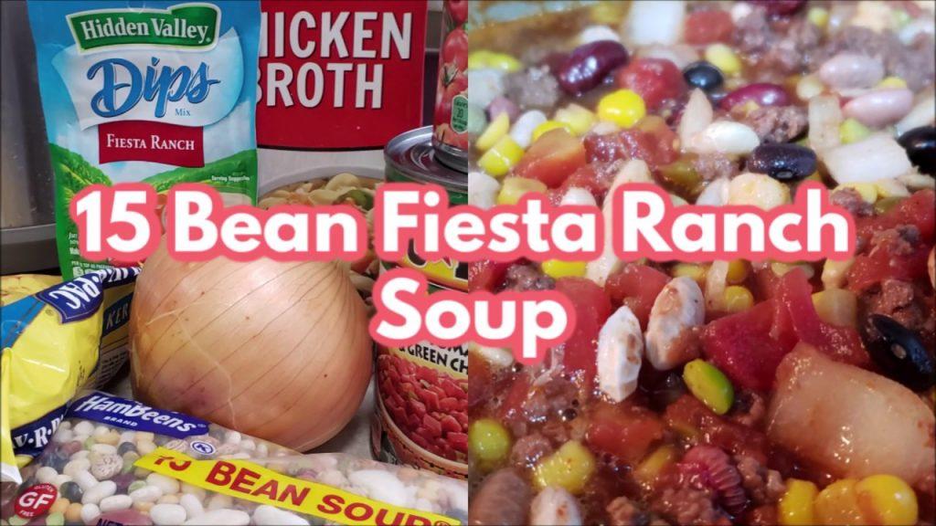 15 Bean Fiesta Ranch Soup   Crockpot Cooking