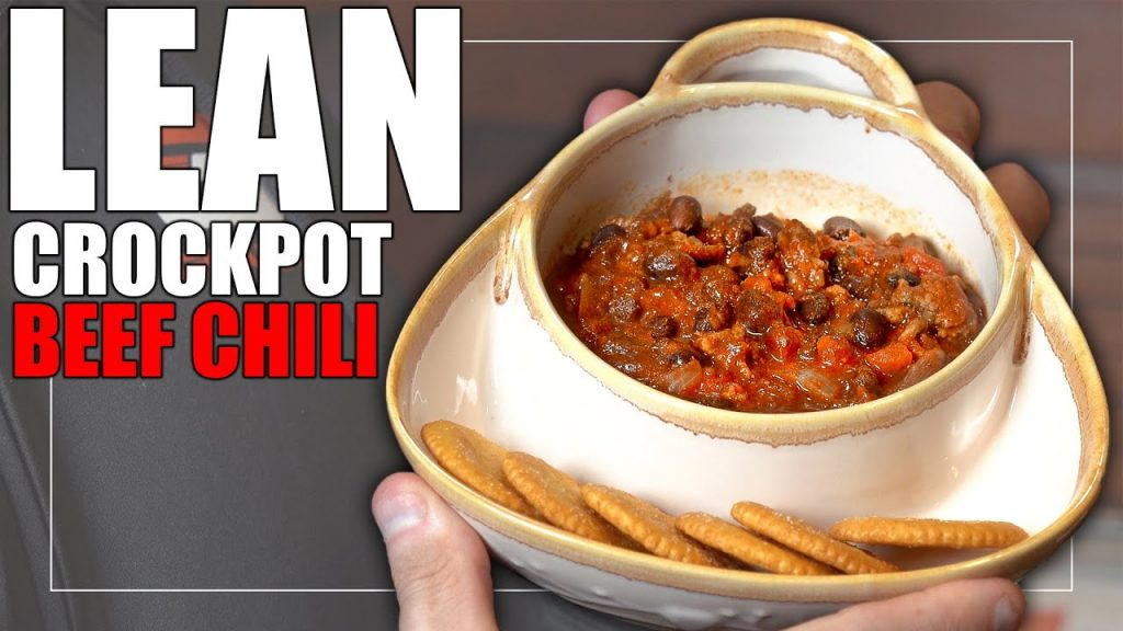 """EASY"" Lean Crockpot Beef Chili   Healthy Recipe"