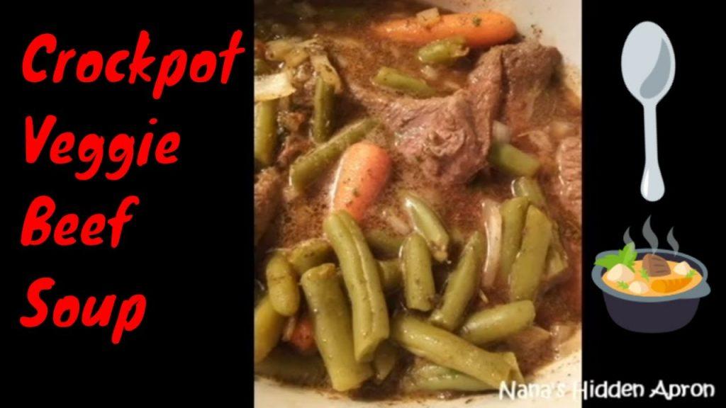 Crock Pot Veggie Beef Soup