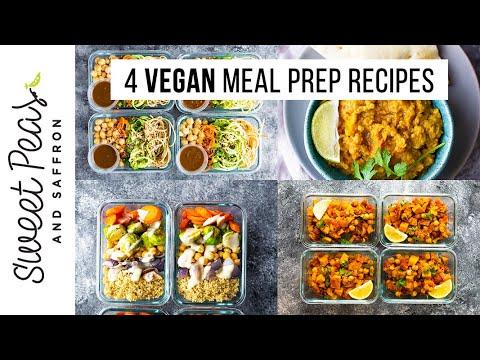 4 Vegan Meal Prep Recipes | Lunch + Dinner