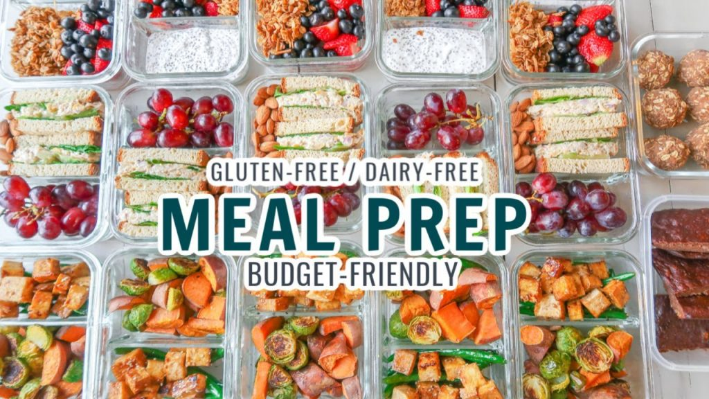 Budget-Friendly Meal Prep For Your Week / Gluten & Dairy Free with Free Printouts