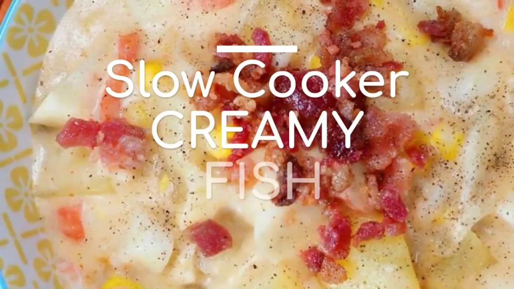 Slow Cooker Creamy Fish Soup