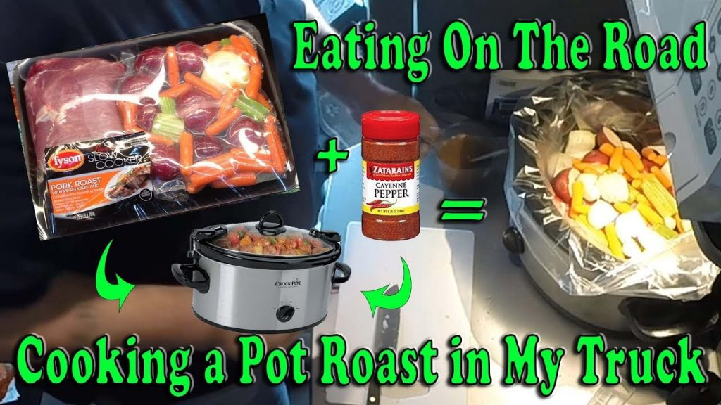 COOKING A PORK POT ROAST IN MY TRUCK – Eating On The Road