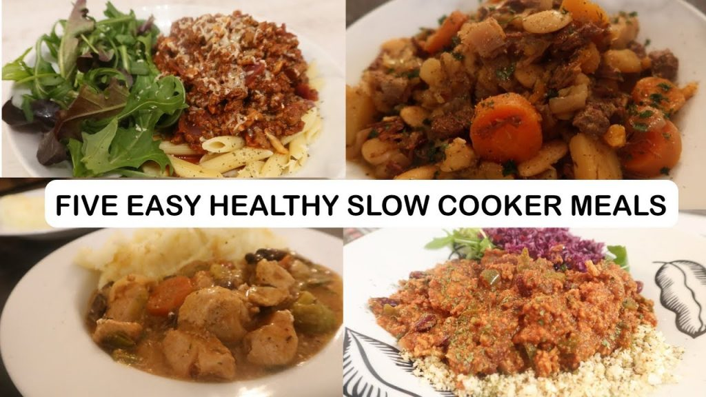FIVE EASY SLOW COOKER MEALS ON SLIMMING WORLD / HEALTHY EATING