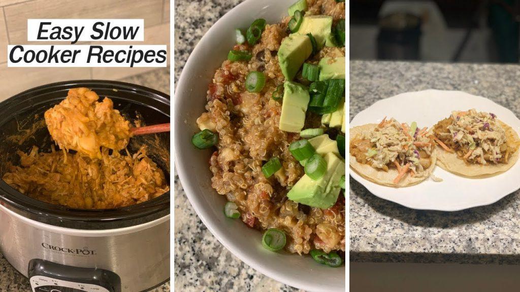 3 EASY Crock Pot Recipes! Vegan Dump and Go Meals