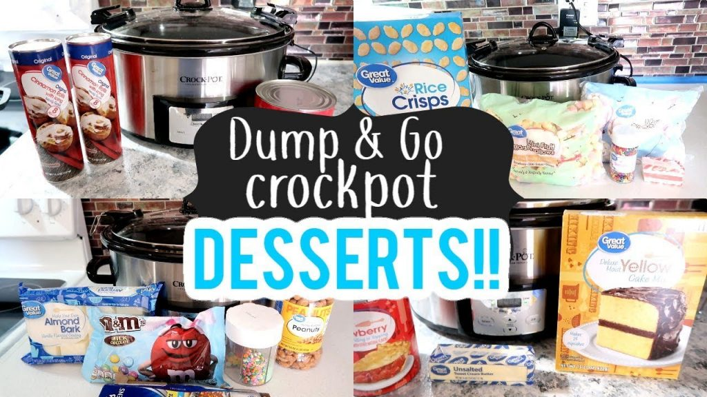 DUMP & GO CROCKPOT DESSERTS   SPRING DESSERTS 2020