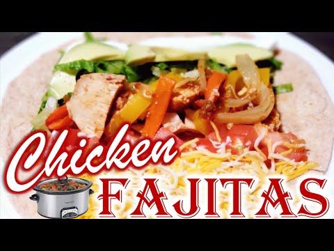 Crockpot Chicken Fajitas (EASY) |  Quick Crock-pot Chicken Recipe | Chicken Dinner Ideas