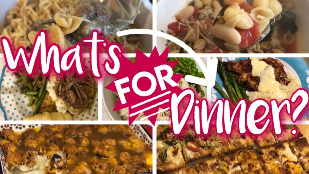 WHAT'S FOR DINNER? *TONS* OF DINNER IDEAS + RECIPES! SOUP, CROCK POT, ONE PAN, AIR FRYER!