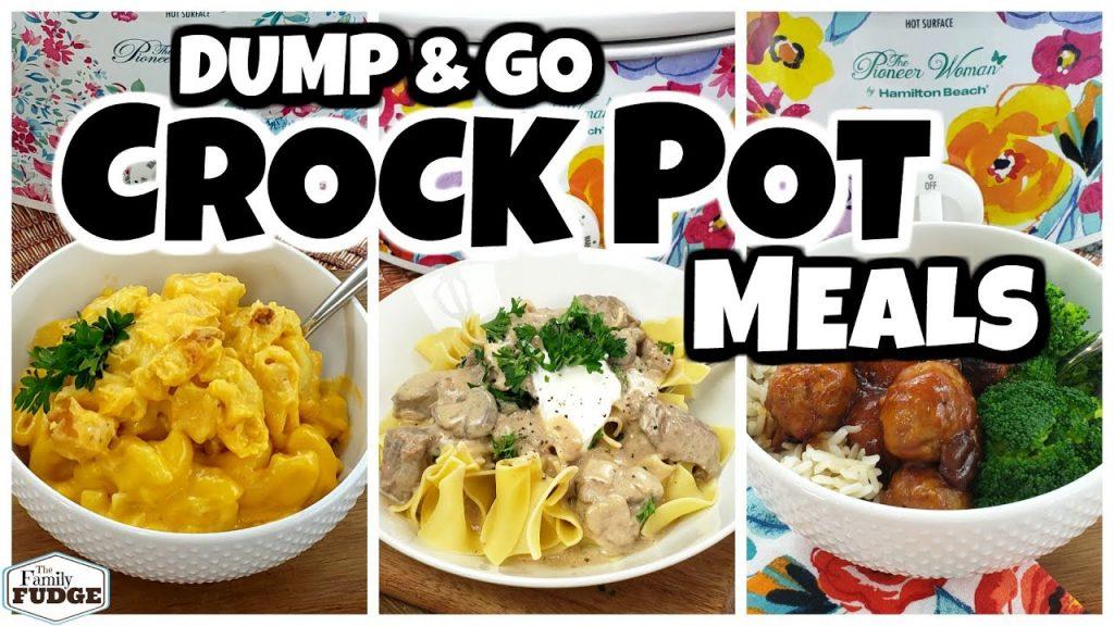 DUMP & GO CROCK POT MEALS    Quick & Easy Crock Pot Recipes   Fall Food Friday!
