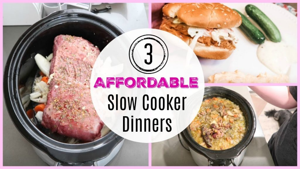 3 AFFORDABLE, FAMILY SLOW COOKER DINNERS