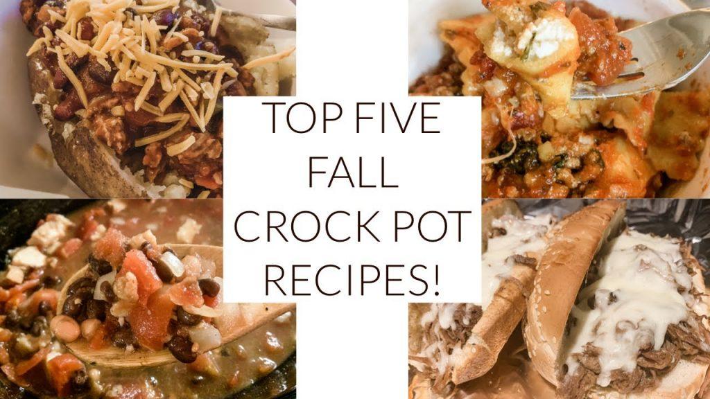 5 FAVORITE FALL CROCK POT RECIPES!