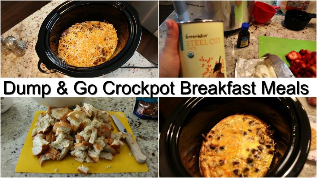 MINIMAL INGREDIENT DUMP & GO CROCK POT MEALS | BUDGET FRIENDLY | BREAKFAST IDEAS