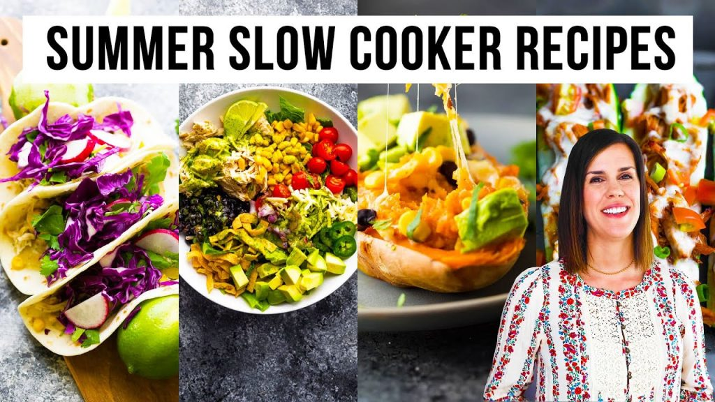4 Light + Healthy Slow Cooker Recipes | Perfect for Summer!