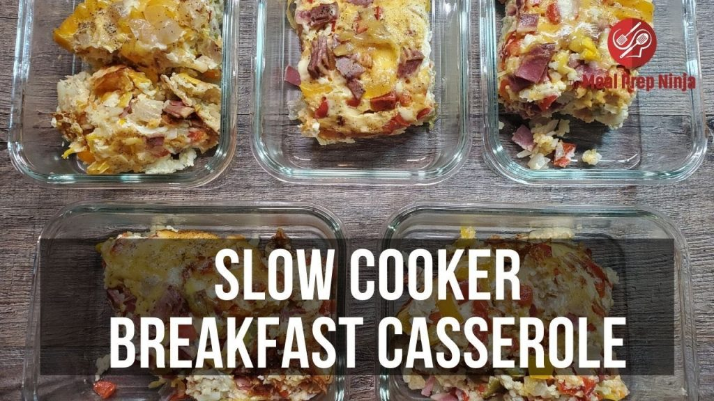 Slow Cooker Breakfast Casserole Recipe Healthy Meal Prep Crockpot