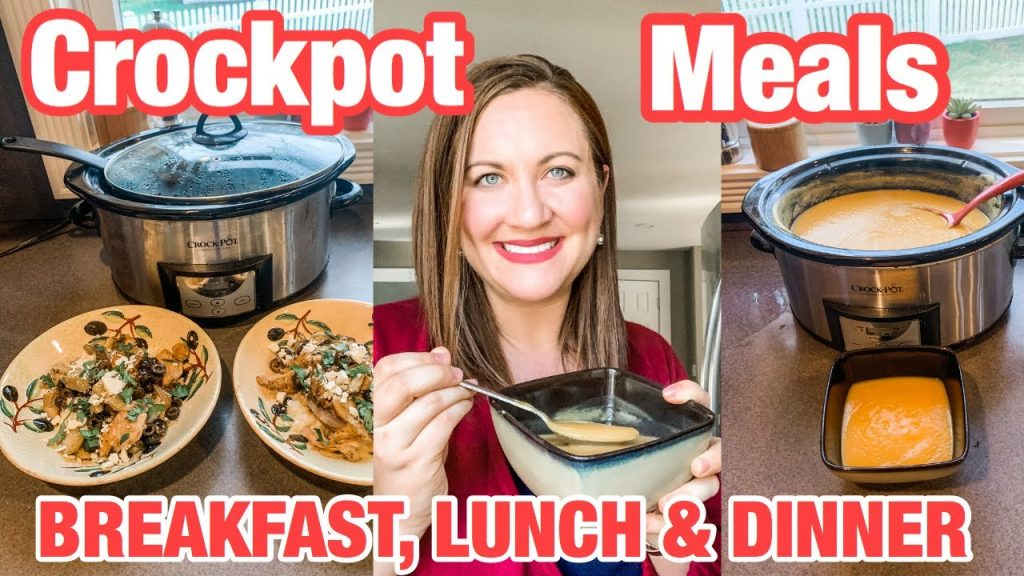 3 EASY & DELICIOUS SLOW COOKER RECIPES // CROCKPOT MEALS FOR BREAKFAST, LUNCH AND DINNER!