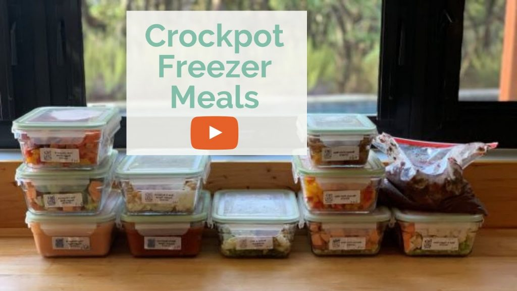 FREEZER MEALS // How to Make Healthy Crockpot Freezer Meals (Perfect for New Moms!)