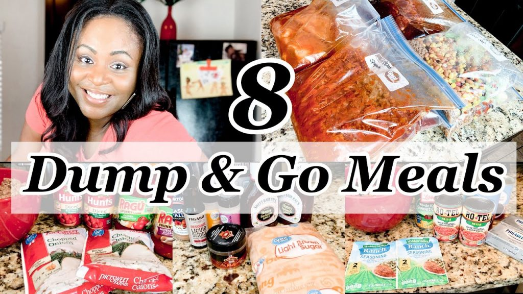 DUMP & GO CROCKPOT MEALS | WHAT'S FOR DINNER | #STAYHOME AND COOK WITH ME