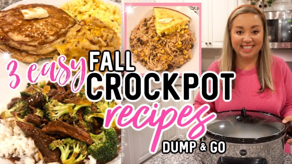 DUMP AND GO CROCKPOT RECIPES | EASY FALL SLOW COOKER MEALS | WHAT'S FOR DINNER | JESSICA O'DONOHUE