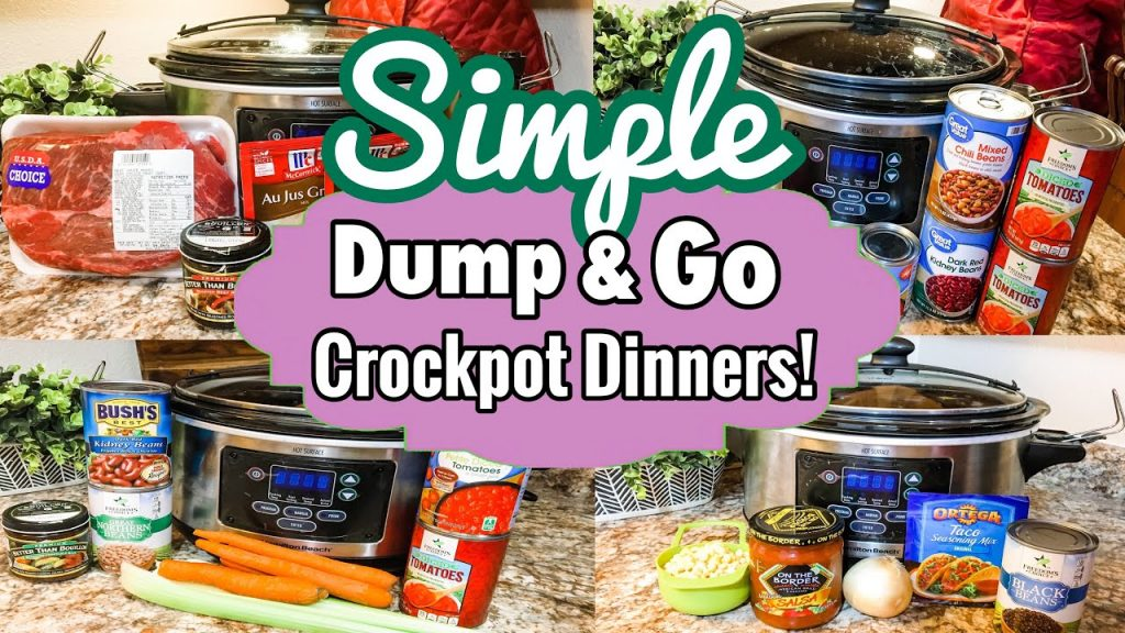 *FIVE* DUMP & GO CROCKPOT DINNERS | SIMPLE SLOW COOKER RECIPE FAVORITES *FALL 2020* | JULIA PACHECO