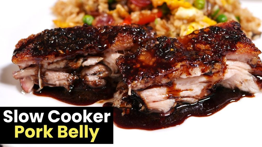 Slow Cooker Pork Belly with a Honey Soy Glaze