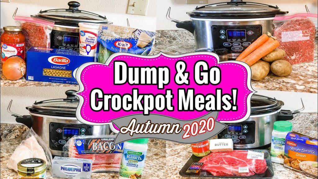 5 DUMP & GO CROCKPOT DINNERS | SLOW COOKER RECIPES | JULIA PACHECO